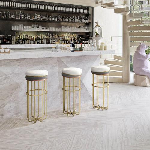 sgabello da bar moderno / in ottone / in rame / in ottone lucidato