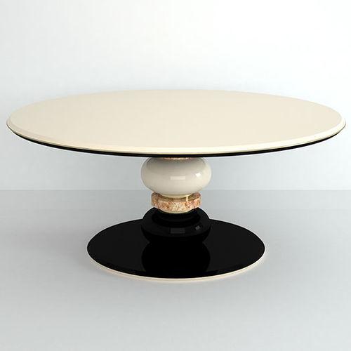 tavolo da pranzo moderno / in pietra / tondo / nero