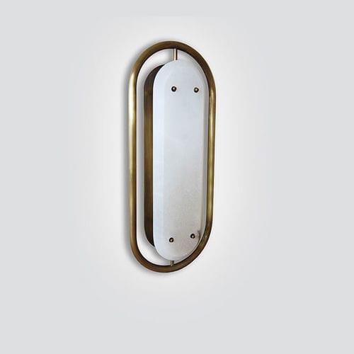 applique moderna / in ottone / in marmo / in alabastro