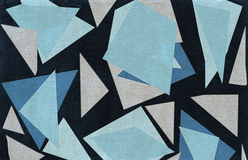tappeto moderno / geometrico / in lana / rettangolare