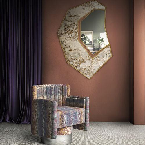 specchio a muro / moderno / contract / in ottone