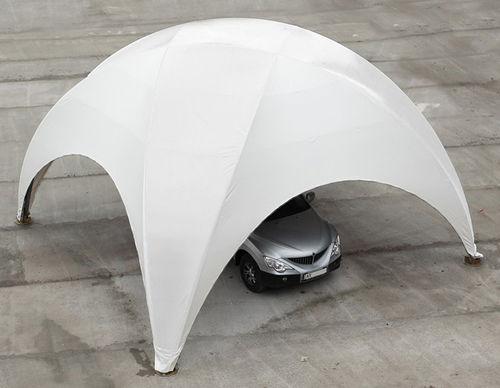 tettoia per posto-auto in PVC / per parcheggio / prefabbricata