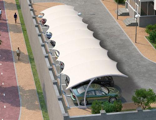 tettoia per posto-auto in metallo / contract