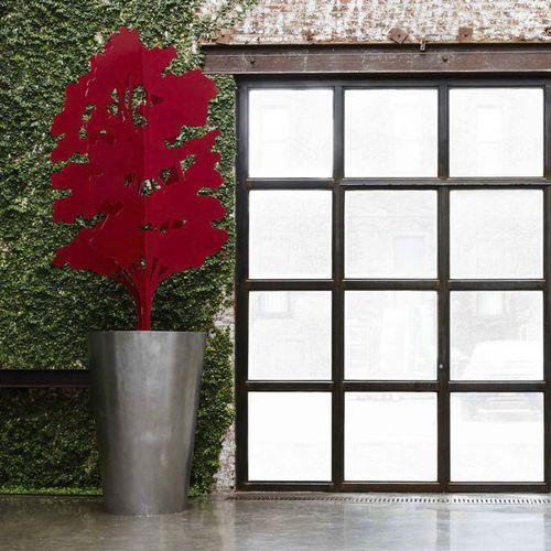 vaso da giardino in acciaio inossidabile / in alluminio / in corten / tondo