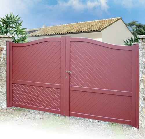 cancello battente / scorrevole / in alluminio termolaccato / a pannello