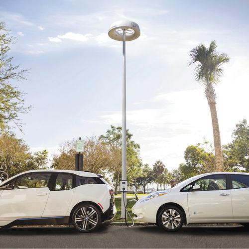 stazione di ricarica per automobile elettrica / per bicicletta elettrica / solare / sicura