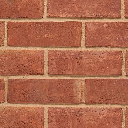 mattone pieno / per muro / rosso / fatto a mano
