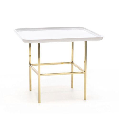 tavolo d'appoggio moderno / in acciaio / quadrato