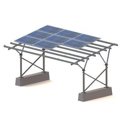 tettoia per posto-auto con pannelli fotovoltaici integrati