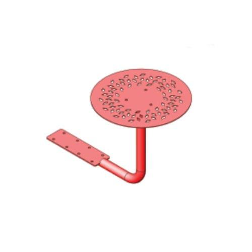 tavolo da picnic moderno / in acciaio con rivestimento a polvere / con supporto in acciaio termolaccato / tondo