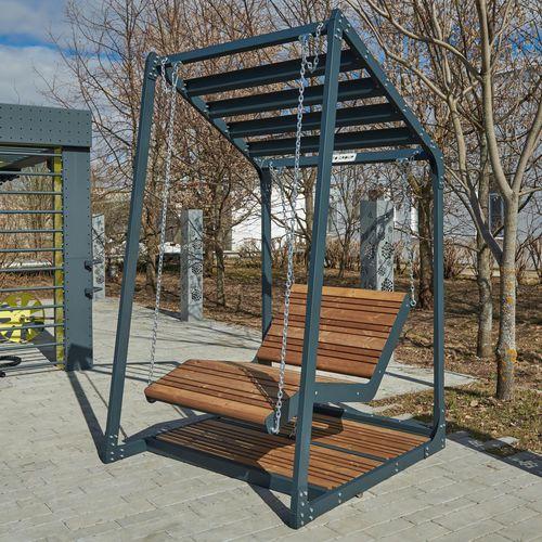 dondolo da giardino in legno / in acciaio galvanizzato / in acciaio con rivestimento a polvere / per spazio pubblico