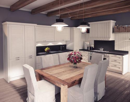 cucina classica / impiallacciata in legno / in MDF / in legno massiccio