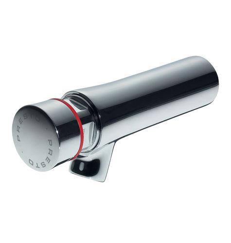 miscelatore per lavabo / da parete / in ottone cromato / temporizzato