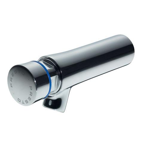 miscelatore per lavabo / da parete / in metallo cromato / temporizzato