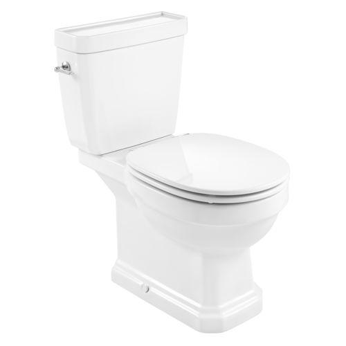 WC da appoggio / in ceramica / con sciacquone ad incastro / con maniglia a leva