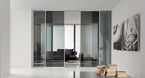 porta da interni / scorrevole / in alluminio / a tutta altezza