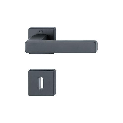 maniglia per porta / in alluminio / moderna / con serratura integrata