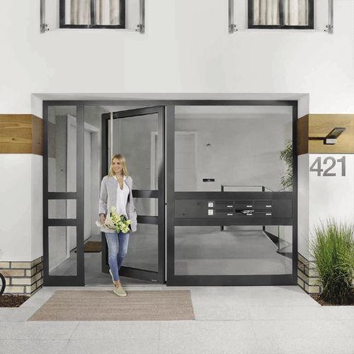 porta d'ingresso / battente / in vetro / in alluminio