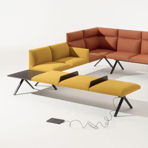 divanetto imbottito modulare - Arper