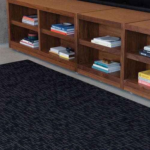 tappeto moderno / a righe / in fibre sintetiche / rettangolare