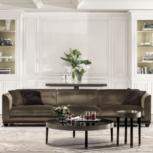 divano moderno / in pelle / in tessuto / 3 posti