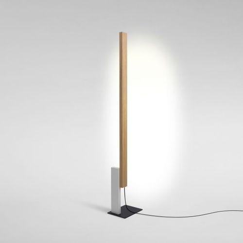 lampada da terra / moderna / in ferro / in quercia
