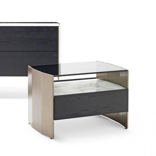 comodino moderno / in legno / in metallo / in vetro