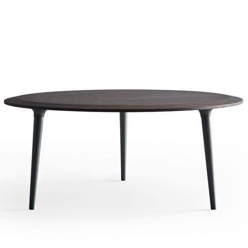 tavolino basso moderno / in legno / in marmo / tondo