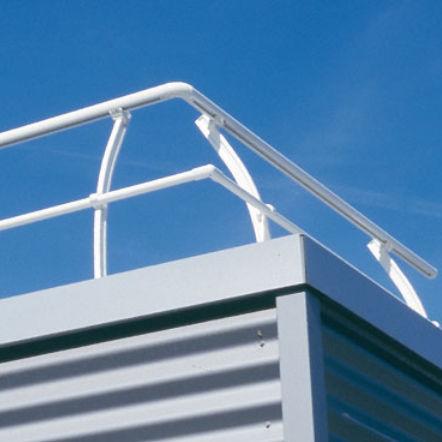 ringhiera in alluminio / a sbarre / da esterno / per esterno
