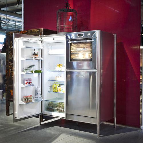 frigorifero per uso residenziale / ad armadio / in acciaio inox