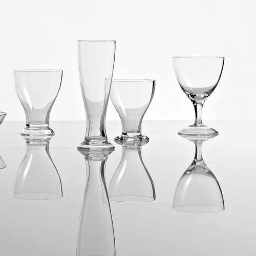 bicchiere da vino / a calice / in vetro / per uso domestico