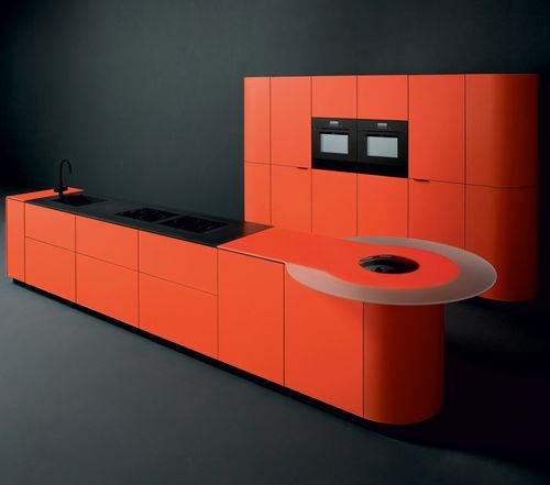 cucina moderna / in vetro / in alluminio / in alluminio anodizzato
