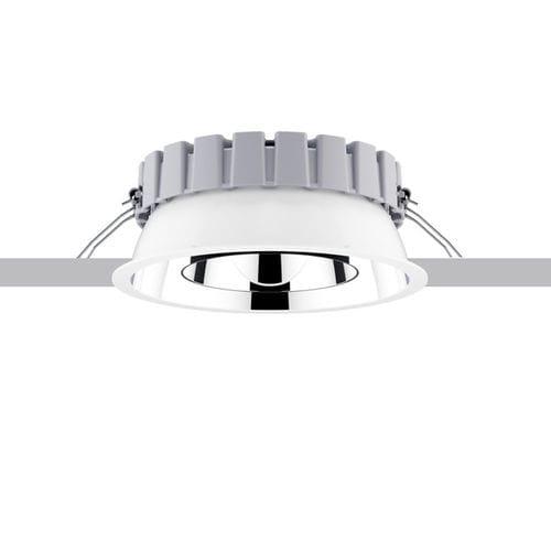 downlight da incasso a soffitto / LED / tondo / in termoplastica