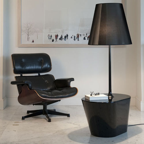 lampada da terra / design originale / in tessuto / in poliuretano