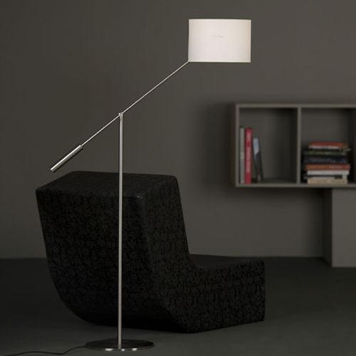 lampada da terra / moderna / in alluminio / in nichel