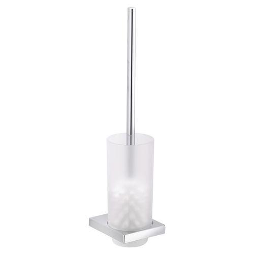 scopino per WC in metallo cromato / in vetro / da parete / a pavimento