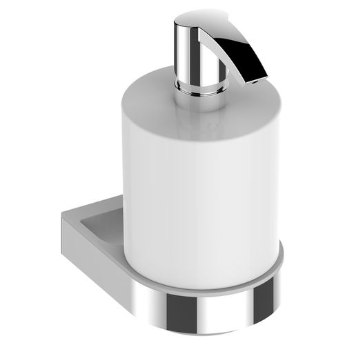 distributore di sapone contract / da parete / in metallo cromato / manuale