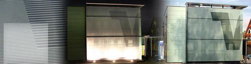 pannello in vetro a doppi vetri / isolante / per edificio / per facciata