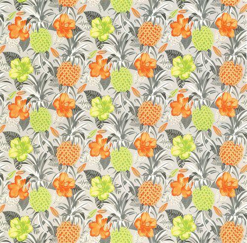 tessuto da tappezzeria / per tende / a fiori / in poliestere