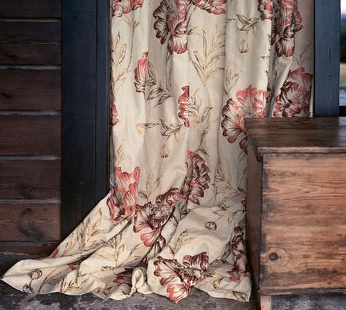 tessuto per tende / a fiori / in juta
