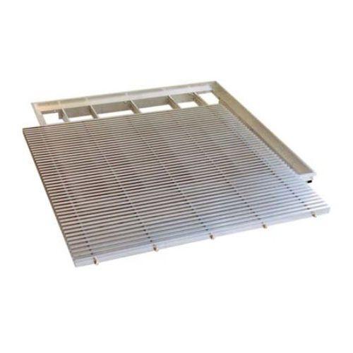 griglia di ventilazione in alluminio / quadrata / per pavimento sopraelevato