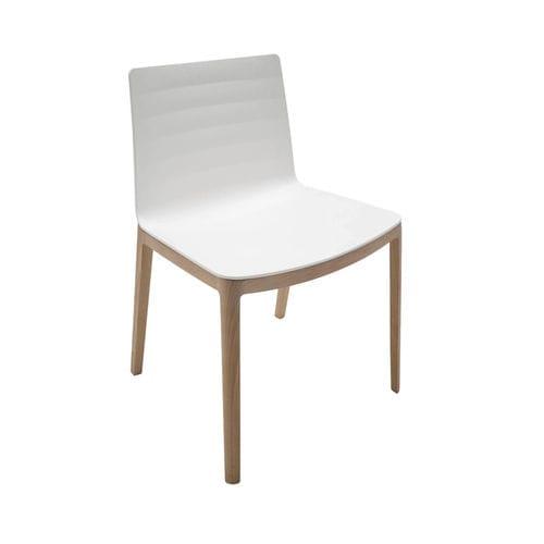 sedia moderna / in legno / bianca