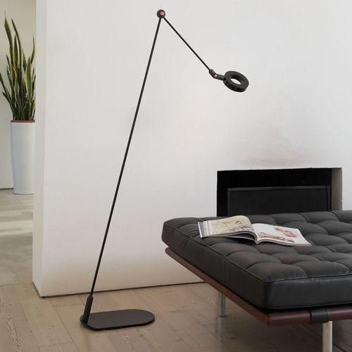 lampada da terra / moderna / in alluminio verniciato / orientabile