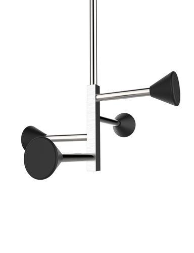appendiabiti da soffitto / design minimalista / in acciaio / contract