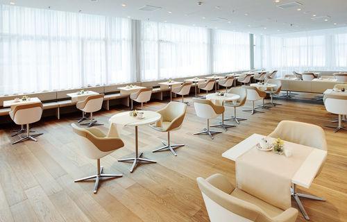 sedia visitatore moderna / girevole / con braccioli / in tessuto