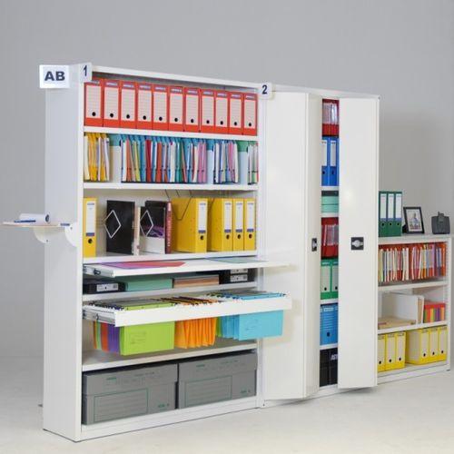scaffale moderno / in metallo / contract / per ufficio