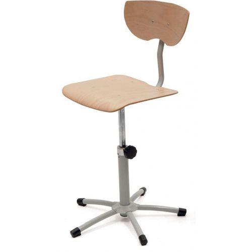 sedia operativa in legno / con base a stella / senza braccioli / ad altezza regolabile