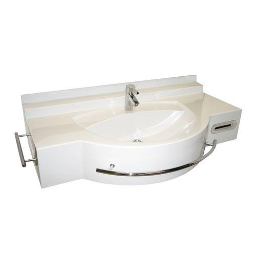 lavabo sospeso / in Pietraluce® / moderno / con piano integrato