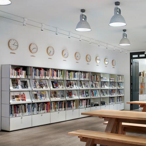 libreria moderna / per ufficio / in MDF laccato / in metallo