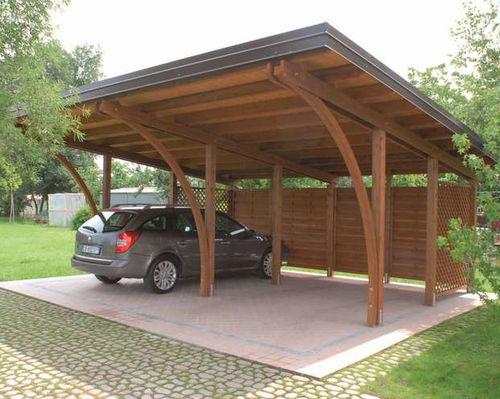 tettoia per posto-auto in pino